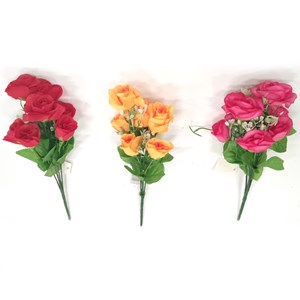 Imagen de Ramo de 7 rosas con flores chicas, PACK x2 ramos, varios colores