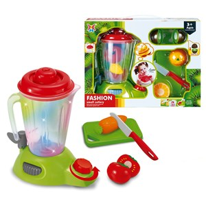 Imagen de Electrodomésticos, licuadora a fricción, luz y sonido, 2AA, con accesorios, en caja