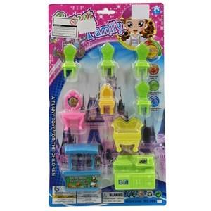 Imagen de Muebles para muñecas, 8 piezas, en blister