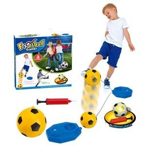 Imagen de Entrenador de fútbol, pelota inflador y base para rellenar, en caja