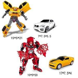 Imagen de Robot samurai, auto con luz y sonido, en caja