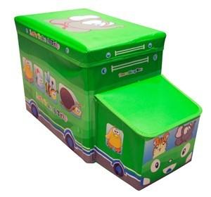Imagen de Organizador de juguetes, banquito infantil, en PVC, con tapa, varios colores