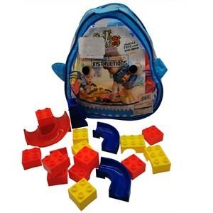 Imagen de Blocks, 64 piezas, medianas, en mochila de PVC