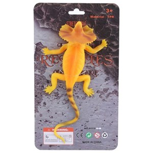 Imagen de Animales lagartija de goma, en cartón