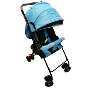 Imagen de Coche para bebé, paragüitas plegable, con capota extensible, posiciones regulables con cinturón , cinturón 2 puntas, 4 ruedas libres con freno trasero, con canasto, varios colores