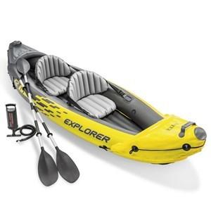 Imagen de Inflable kayak canoa, 2 asientos, con remos, en caja,INTEX