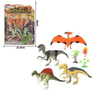 Imagen de Dinosaurios surtidos x4, con accesorios, en blister
