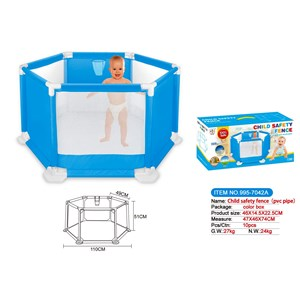 Imagen de Corral desmontable para bebé, hexagonal, en caja