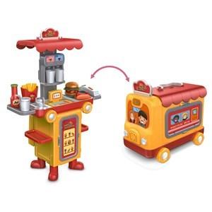 Imagen de Carro de hamburguesas, con luz y sonido, 2 en 1, en caja