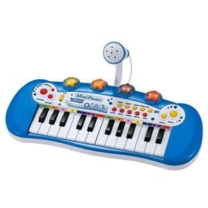 Imagen de Organo con micrófono celeste, 24 teclas, luz, 3AA, en caja