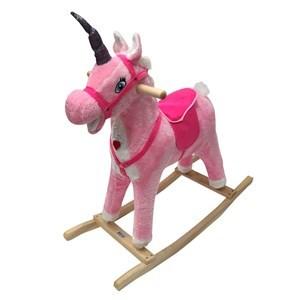 Imagen de Caballito de madera, unicornio, con sonido, 2 colores