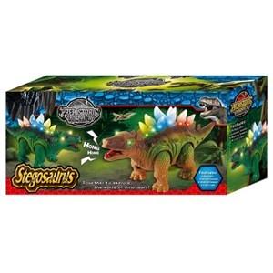 Imagen de Dinosaurio stegosaurio con luz sonido y movimiento, 3AA, en caja