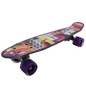 Imagen de Skate de plástico penny, luz en las ruedas, trucks de metal, varios diseños