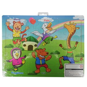 Imagen de Puzzle de madera, 60 piezas, en bolsa, varios diseños