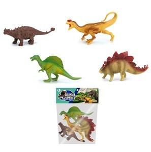 Imagen de Dinosaurios surtidos x4, en bolsa