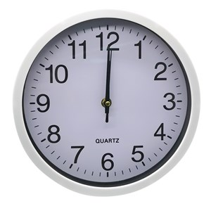 Imagen de Reloj de pared, 25cm de diámetro 3 colores, en caja
