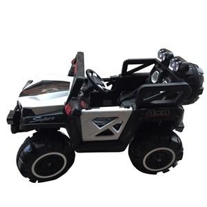 Imagen de Jeep a batería, 4 motores, balanceo, con música luz y USB, se abren las puertas, en caja