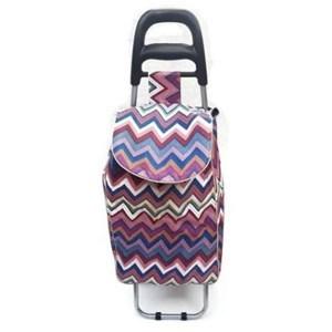 Imagen de Carrito de compras de tela plastificada, bolsillo exterior, varios colores