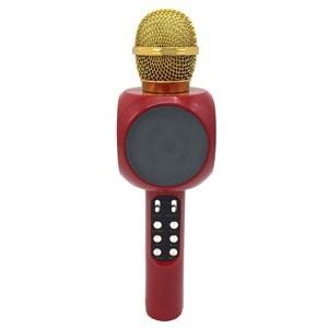 Imagen de Micrófono inalámbrico, conexión bluetooth, parlante con luz, batería recargable, USB, radio FM, en caja