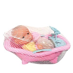 Imagen de Bebote con bañito, con accesorios en red