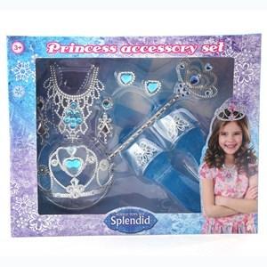 Imagen de Corona con zuecos, varita y accesorios, 2 colores, en caja