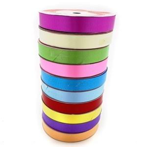 Imagen de Cinta de regalo con diseño 1.6cm, pack x10 rollos de varios colores