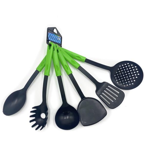 Imagen de Cucharones de cocina de plástico x6