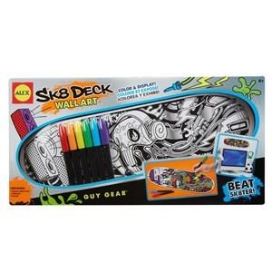 Imagen de Cuadro para colorear, ALEX, diseño skate con marcadores y soporte para exhibir