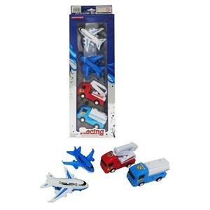Imagen de Aviones y camiones de plástico, 4 piezas, en caja