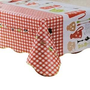 Imagen de Mantel rectangular de PVC afelpado, 152x228cm, varios diseños, en bolsa