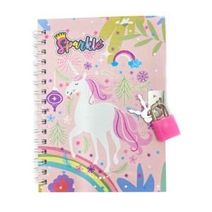 Imagen de Diario íntimo con candado, 45 hojas, varios diseños de unicornio