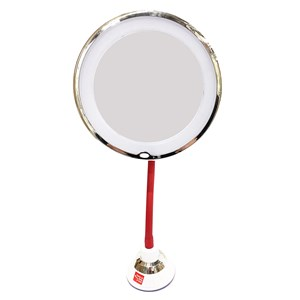 Imagen de Espejo 10 aumentos con luz 12cm, 3AA con ventosa, en caja