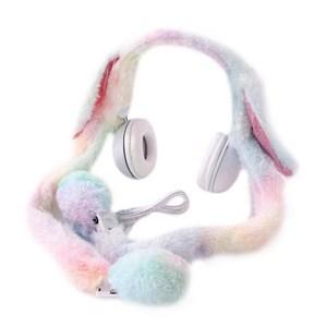 Imagen de Auricular vincha con diseño orejas peluche de conejo, en caja