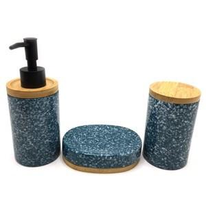 Imagen de Dispensador de jabón de cerámica, con accesorios, en caja, 2 colores