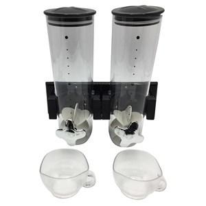 Imagen de Dispensador de cereales doble, de acrílico para amurar, con 2 tazas, en caja