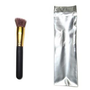 Imagen de Maquillaje, pincel brocha gruesa, en estuche de PVC