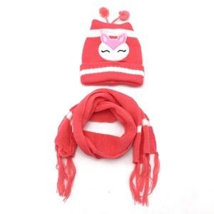 Imagen de Gorro infantil forrado y bufanda, en bolsa, 2 colores