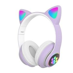 Imagen de Auricular vincha con bluetooth, orejas de gato, en caja, varios colores
