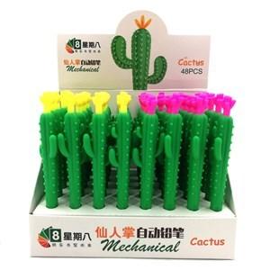 Imagen de Lápiz mecánico, punta 0.5mm, diseño cactus, CAJA x48