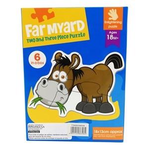 Imagen de Puzzle 15 piezas, animales de granja x6, en caja