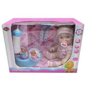 Imagen de Bebote con mamadera, chupete, pelela y accesorios, hace pis, en caja
