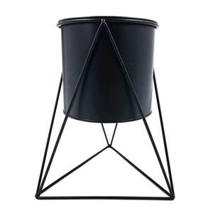 Imagen de Maceta de metal 14cm con soporte, 2 colores