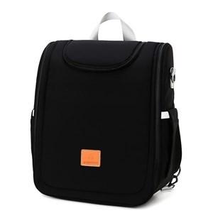 Imagen de Bolso mochila maternal, se hace cuna, cambiador y mochila adicional con divisiones, NEGRO