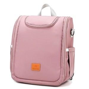 Imagen de Bolso mochila maternal, se hace cuna, cambiador y mochila adicional con divisiones, ROSADO