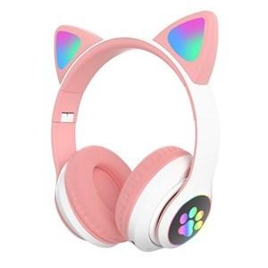 Imagen de Auricular vincha orejas ROSADO, con luz, en caja