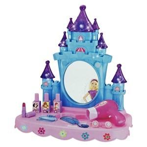 Imagen de Set de belleza, tocador castillo con luz y sonido, con accesorios 3AA, en caja