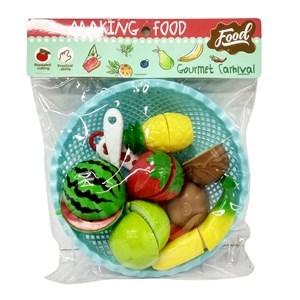 Imagen de Frutas y verduras x6, para corte, accesorios en bolsa