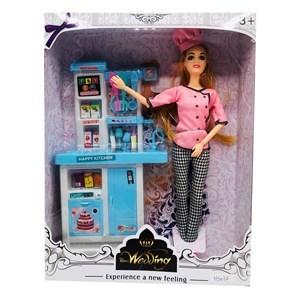 Imagen de Muñeca articulada cocinera con accesorios, en caja