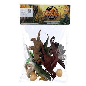 Imagen de Dinosaurios x7 con accesorios, en bolsa