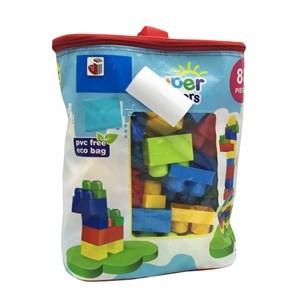 Imagen de Blocks x88 piezas de plástico medianas, en bolsa de PVC
